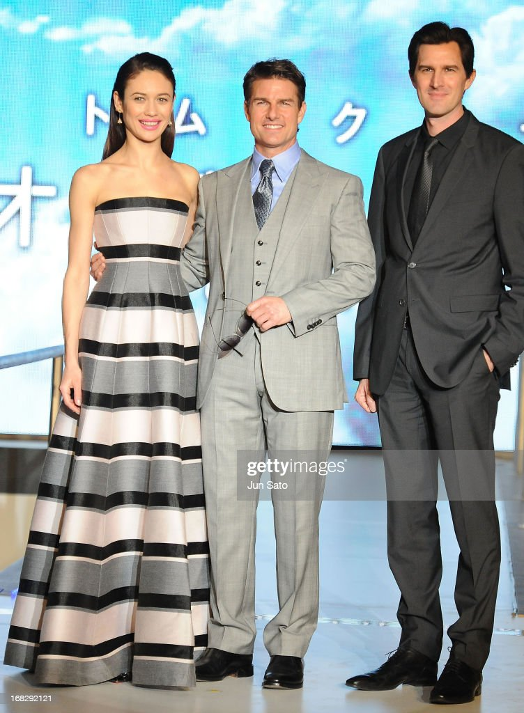 Olga Kurylenko, Tom Cruise and director Joseph Kosinski attend the 'Oblivion' Japan Premiere at Roppongi Hills on May 8, 2013 in Tokyo, Japan. The film will open on May 31 in Japan.