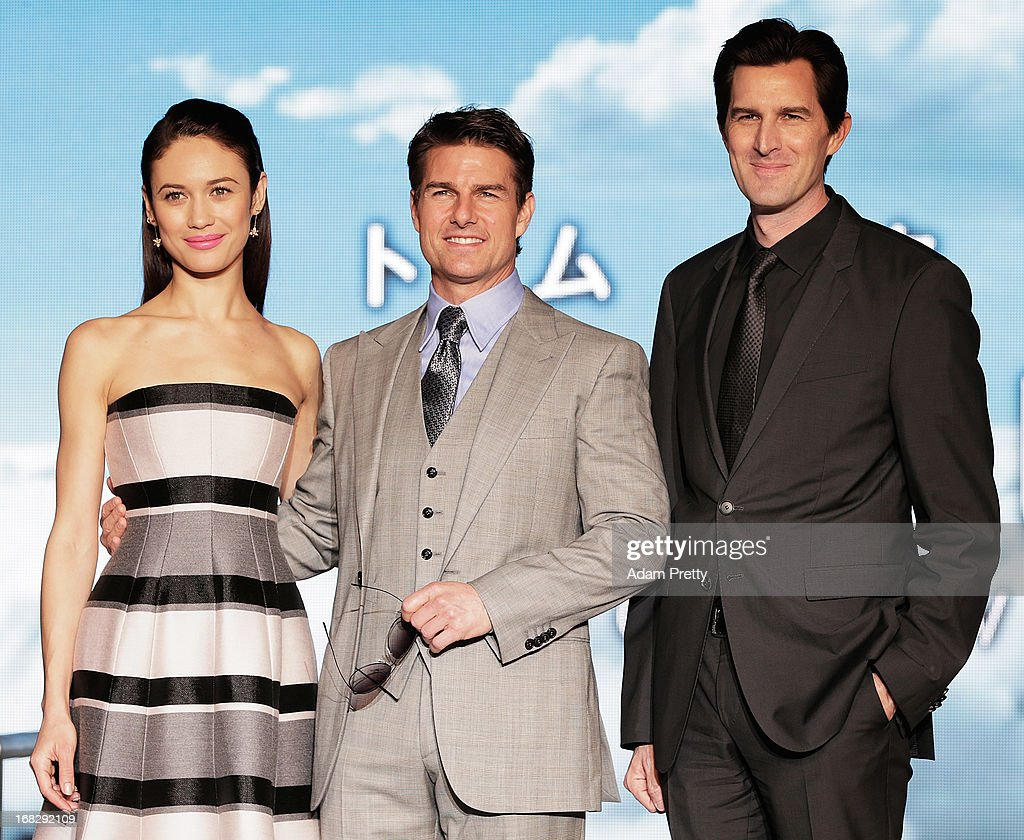 Olga Kurylenko, Tom Cruise and director Joseph Kozinski attend the 'Oblivion' Japan Premiere at Roppongi Hills on May 8, 2013 in Tokyo, Japan. The film will open on May 31 in Japan.