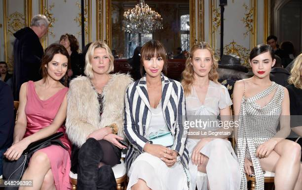 Olga KurylenkoAlexandra Richard Jackie CruzIlona Smet and Sofia Carson attend the John Galliano show as part of the Paris Fashion Week Womenswear...