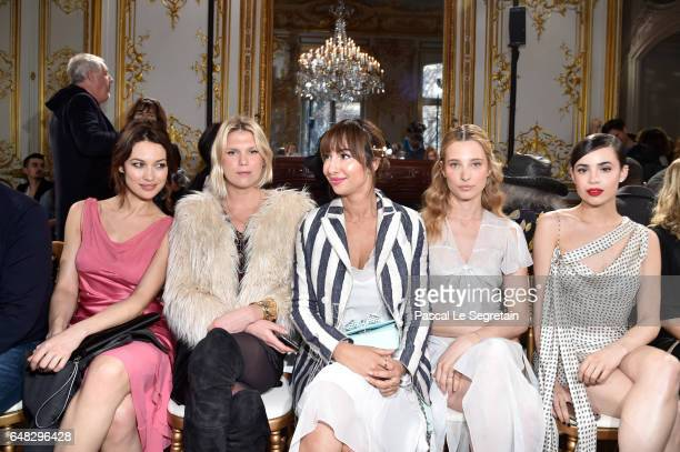 Olga KurylenkoAlexandra Richard Jackie CruzIlona Smet and Sofia Carson attend the John Galliano show as part of the Paris Fashion Week Womenswear...