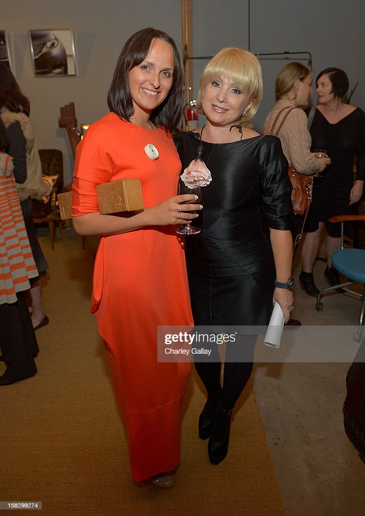Olga Malkovskaya (L) and Yelena Kononova attend High Fashion/2013 MOE Aliona Kononova Collection, brought to you by the all-new Lincoln MKZ, hosted by Joel Chen and Lyn Winter at C Project on December 12, 2012 in Los Angeles, California.