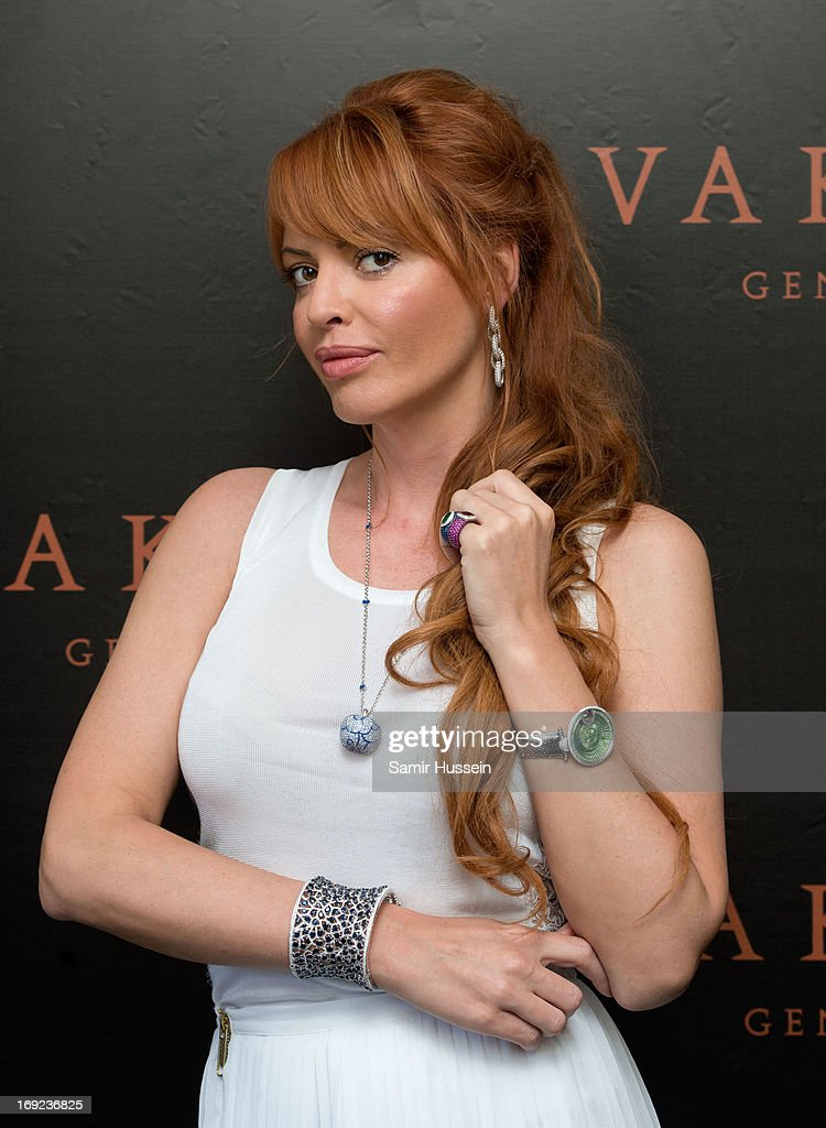 Olga Rodionova visits the Avakian suite wearing Avakian jewellery during the 66th Cannes Film Festival on May 22, 2013 in Cannes, France.