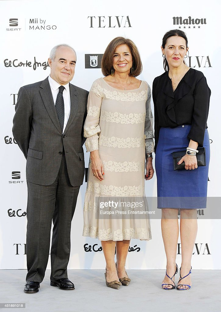 Olga Ruiz and Ana Botella attend 'Telva La Moda En La Calle' Fashion Show on July 8 2014 in Madrid Spain