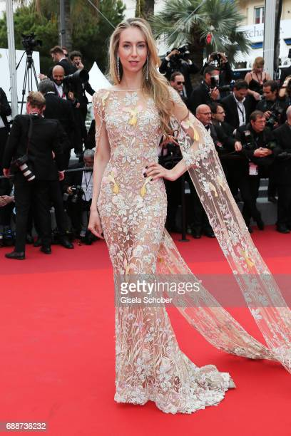 Olga Shalnova attends the 'Amant Double ' screening during the 70th annual Cannes Film Festival at Palais des Festivals on May 26 2017 in Cannes...