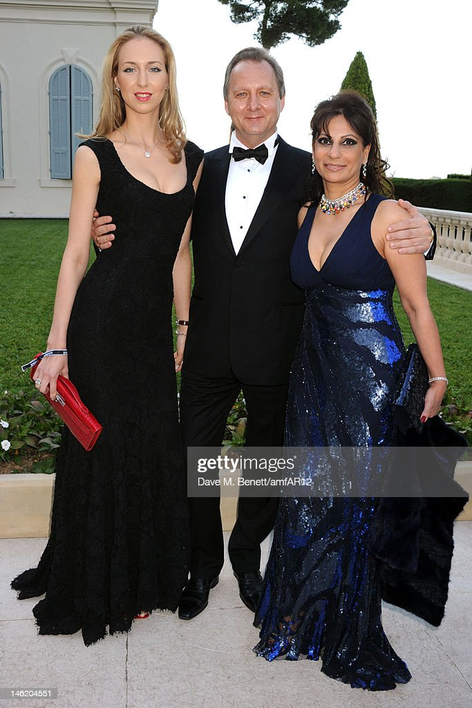 Olga Shalnova, Leonid Maievski and guest attend the 2012 amfAR's Cinema Against AIDS during the 65th Annual Cannes Film Festival at Hotel Du Cap on May 24, 2012 in Cap D'Antibes, France.
