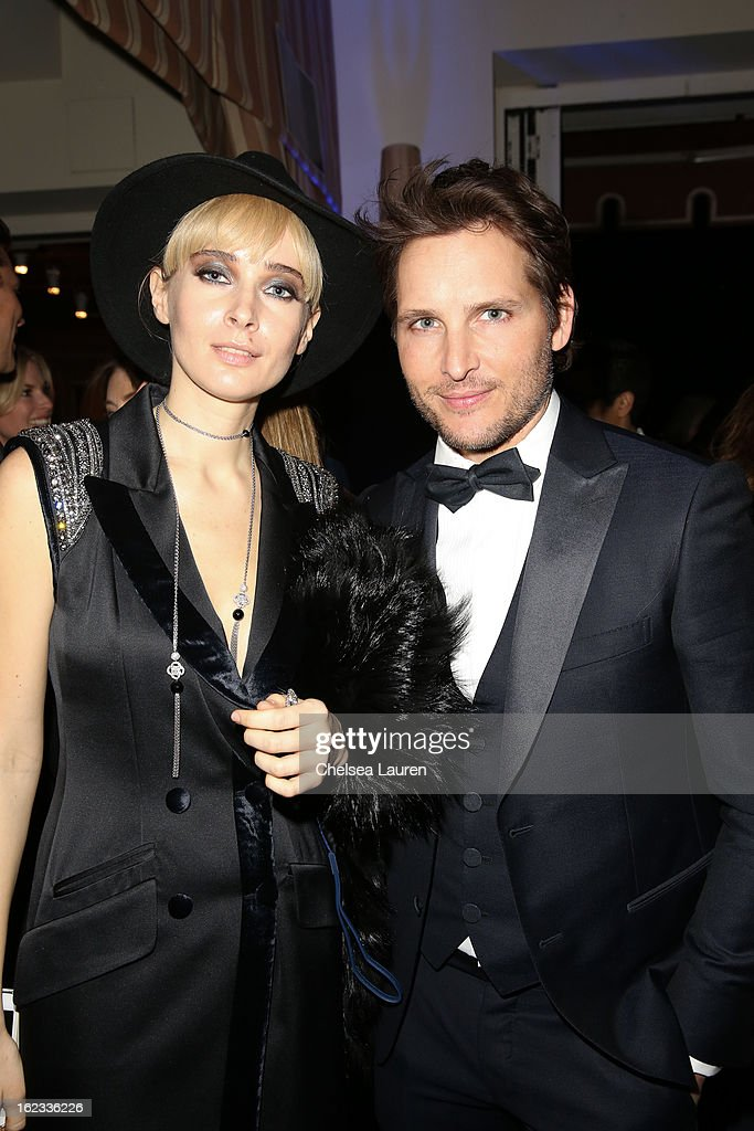 Olga Sorokina (L) and actor Peter Facinelli attend the APJ party during the Academy Awards week on February 21, 2013 in Los Angeles, California.
