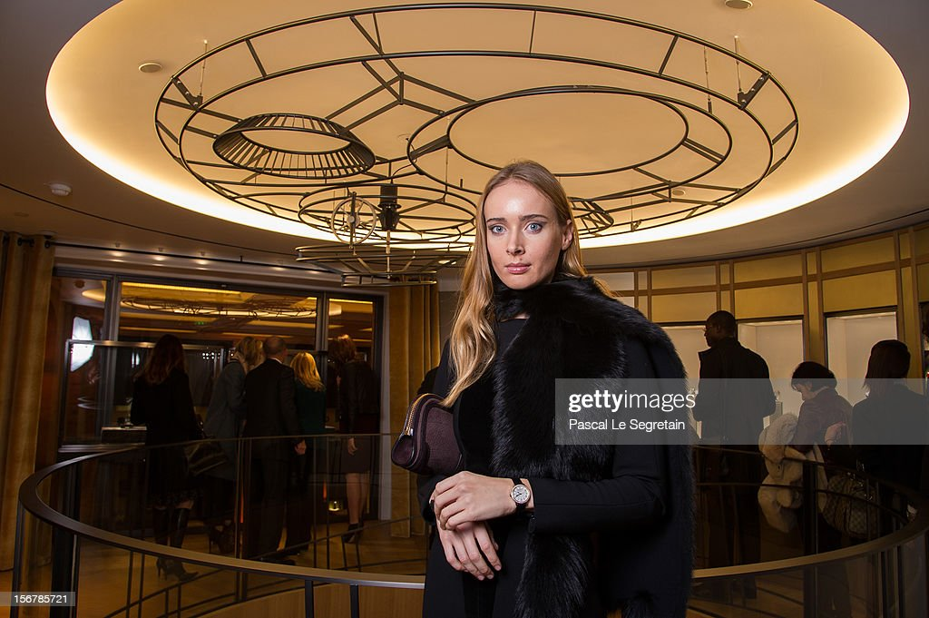 Olga Sorokina attends Jaeger-LeCoultre Vendome Boutique Opening at Jaeger-LeCoultre Boutique on November 20, 2012 in Paris, France.