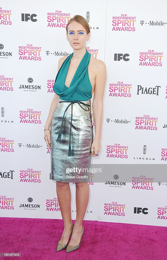 Olga Sorokina attends the 2013 Film Independent Spirit Awards at Santa Monica Beach on February 23, 2013 in Santa Monica, California.