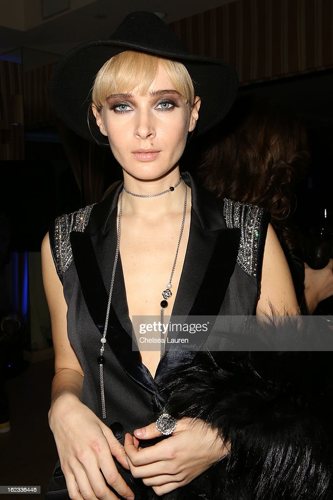 <a gi-track='captionPersonalityLinkClicked' href=/galleries/search?phrase=Olga+Sorokina&family=editorial&specificpeople=8201470 ng-click='$event.stopPropagation()'>Olga Sorokina</a> attends the APJ party during the Academy Awards week on February 21, 2013 in Los Angeles, California.