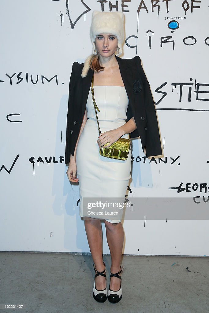 Olga Sorokina attends The Art of Elysium gala while she visits Los Angeles during the Academy Awards on February 20, 2013 in Los Angeles, California.