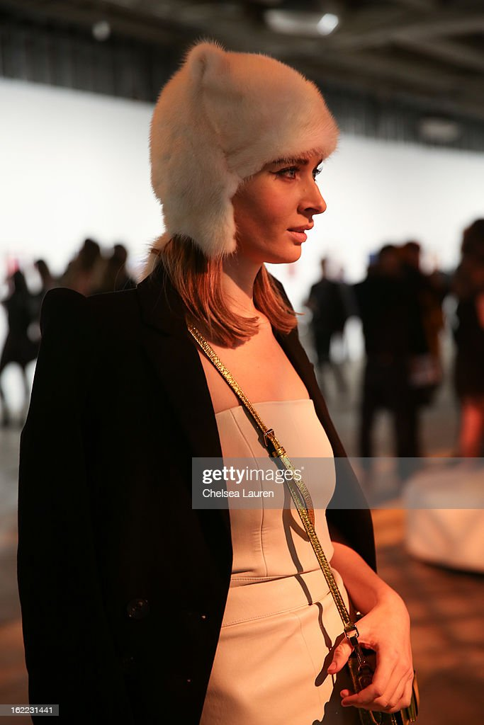 <a gi-track='captionPersonalityLinkClicked' href=/galleries/search?phrase=Olga+Sorokina&family=editorial&specificpeople=8201470 ng-click='$event.stopPropagation()'>Olga Sorokina</a> attends The Art of Elysium gala while she visits Los Angeles during the Academy Awards on February 20, 2013 in Los Angeles, California.