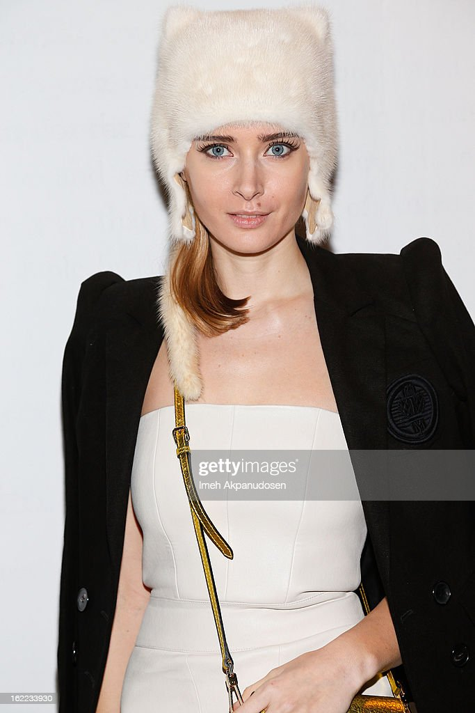 Olga Sorokina attends The Art Of Elysium's 6th Annual Pieces Of Heaven Powered By Ciroc Ultra Premium Vodka at Ace Museum on February 20, 2013 in Los Angeles, California.