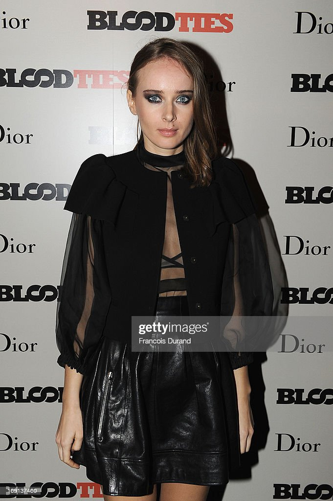 Olga Sorokina attends the 'Blood Ties' cocktail and party hosted by Dior at Club by Albane in Bulgari Rooftop on May 20, 2013 in Cannes, France.