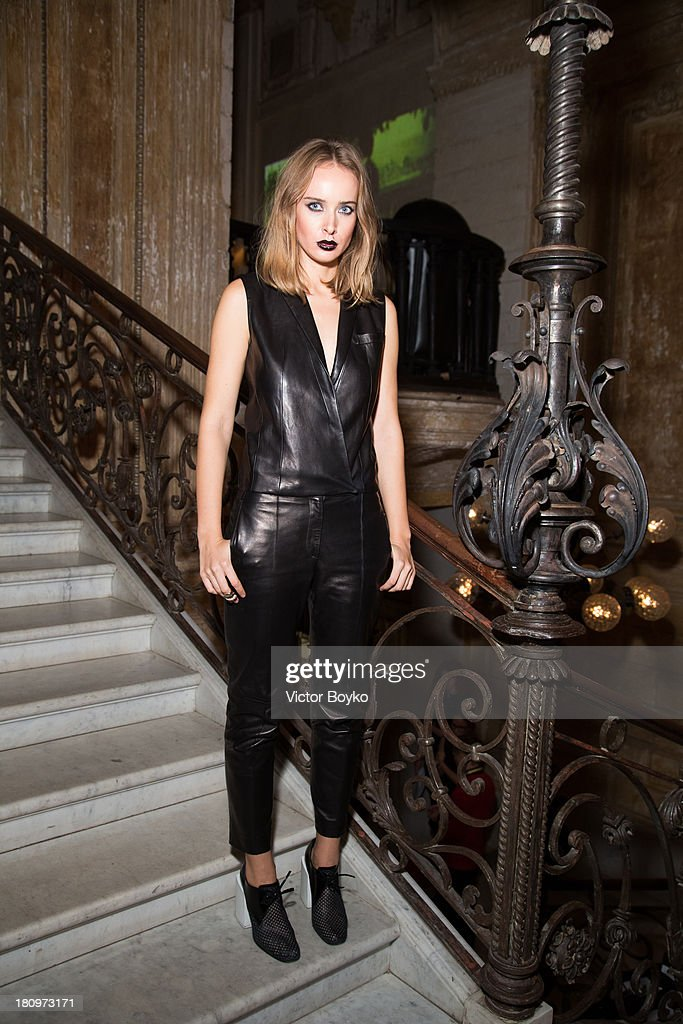 Olga Sorokina attends the dinner celebrating the opening of Vadim Zakharov's 'Dead Languages Dance' special project as part of the 5th Moscow Modern Art Biennale on September 18, 2013 in Moscow, Russia.