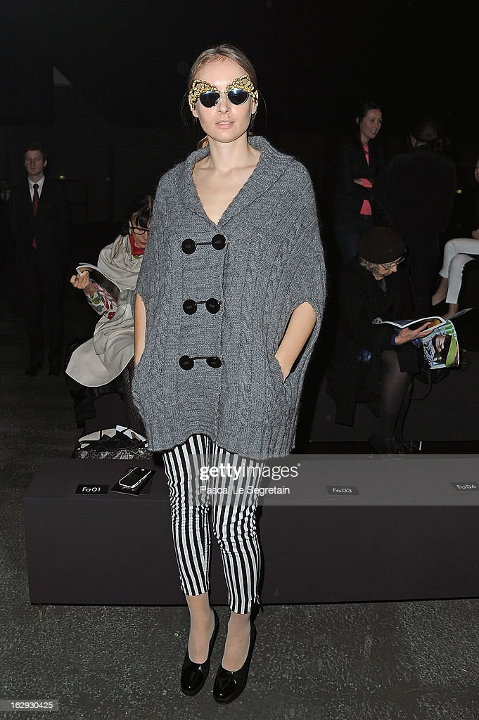 Olga Sorokina attends the Sonia Rykiel Fall/Winter 2013 Ready-to-Wear show as part of Paris Fashion Week at Halle Freyssinet on March 1, 2013 in Paris, France.