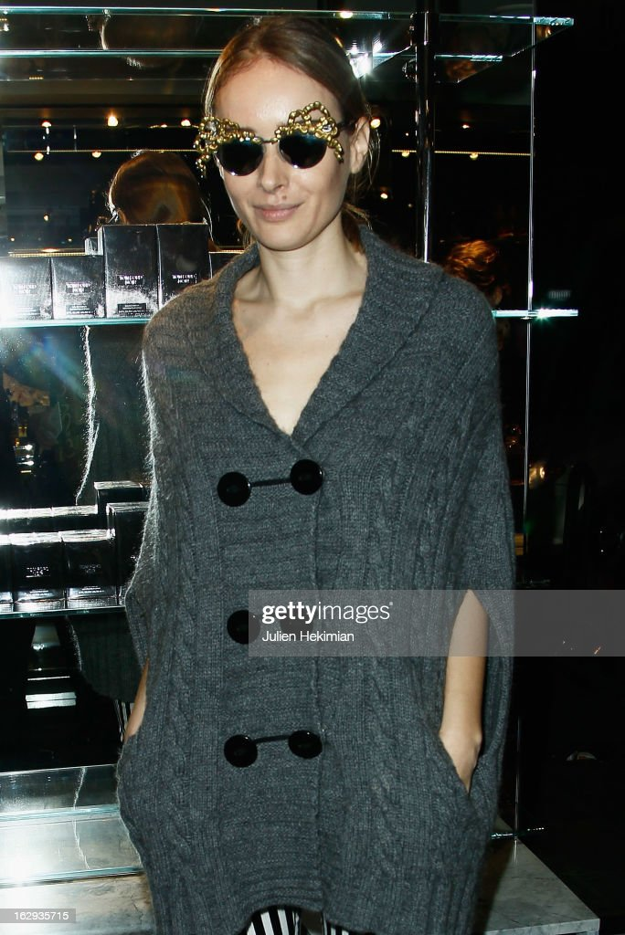 Olga Sorokina attends the Tom Ford Flagship Opening Cocktail as part of Paris Fashion Week at on March 1, 2013 in Paris, France.