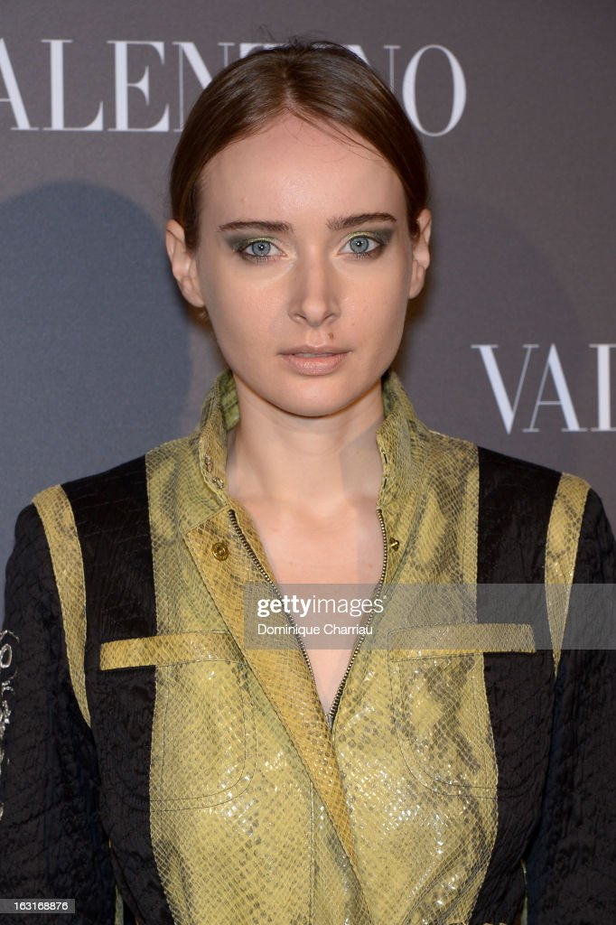 <a gi-track='captionPersonalityLinkClicked' href=/galleries/search?phrase=Olga+Sorokina&family=editorial&specificpeople=8201470 ng-click='$event.stopPropagation()'>Olga Sorokina</a> attends the Valentino Flagship Reopening Cocktail on March 5, 2013 in Paris, France.