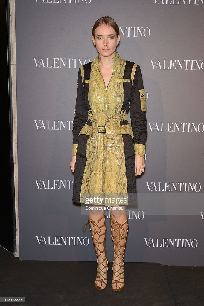 Olga Sorokina attends the Valentino Flagship Reopening Cocktail on March 5, 2013 in Paris, France.