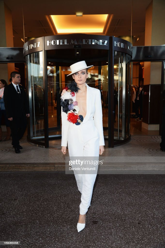 Olga Sorokina poses at the Hotel Martinez during the 66th Annual Cannes Film Festival on May 19, 2013 in Cannes, France.