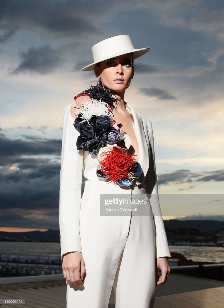 <a gi-track='captionPersonalityLinkClicked' href=/galleries/search?phrase=Olga+Sorokina&family=editorial&specificpeople=8201470 ng-click='$event.stopPropagation()'>Olga Sorokina</a> poses on the Croisette during the 66th Annual Cannes Film Festival on May 19, 2013 in Cannes, France.