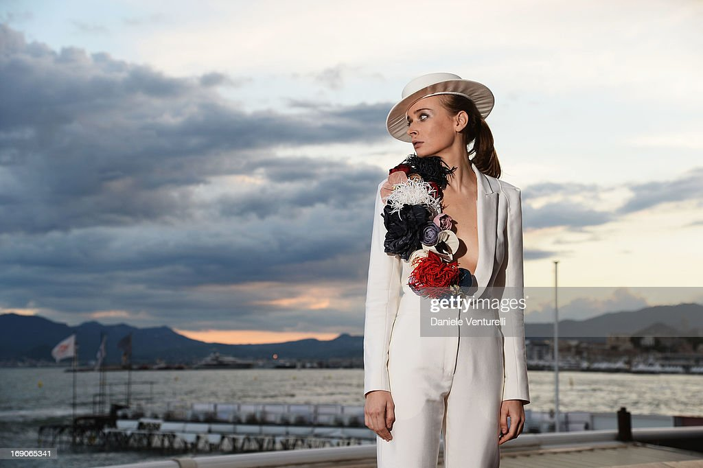 Olga Sorokina poses on the Croisette during the 66th Annual Cannes Film Festival on May 19, 2013 in Cannes, France.