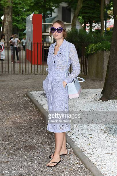 Olga Sorokina visiting the The 56th International Art Biennale on May 9 2015 in Venice Italy