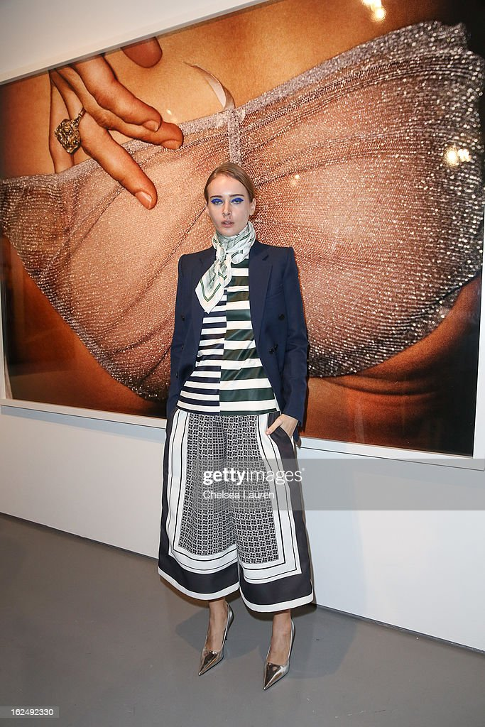 <a gi-track='captionPersonalityLinkClicked' href=/galleries/search?phrase=Olga+Sorokina&family=editorial&specificpeople=8201470 ng-click='$event.stopPropagation()'>Olga Sorokina</a> visits the Mario Testino opening at PRISM during Academy Awards week on February 23, 2013 in Los Angeles, California.