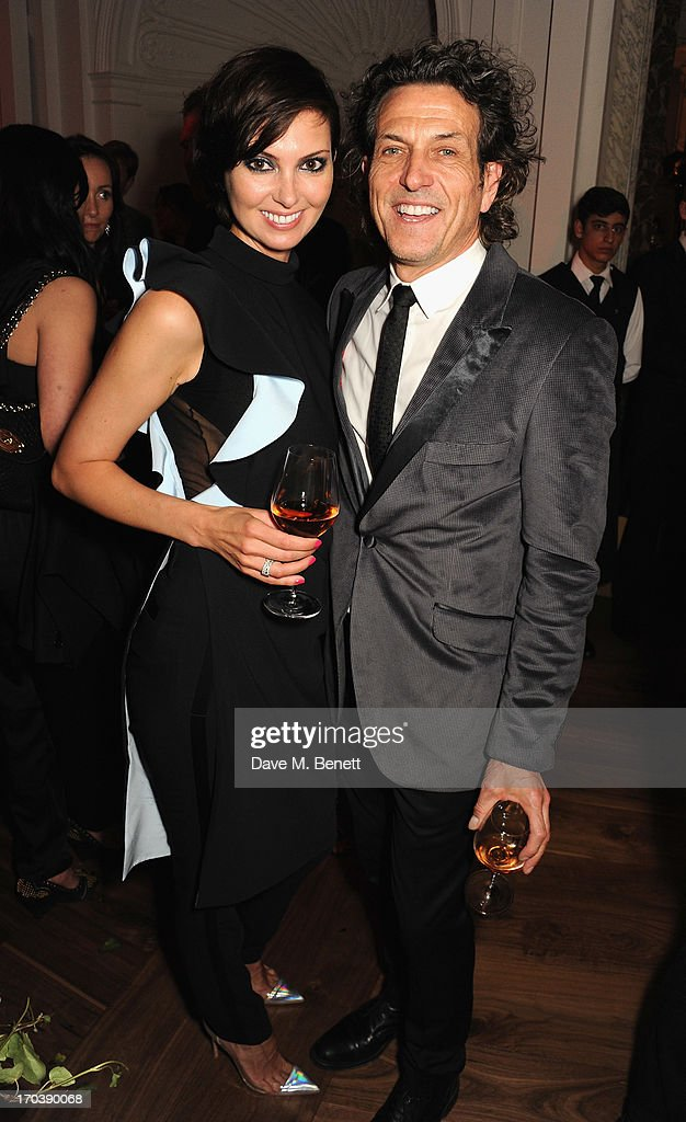 Olga Stepanenko and Stephen Webster attend the Dom Perignon Rose 2002 Dark Jewel launch with Stephen Webster at The Connaught Hotel on June 12, 2013 in London, England.