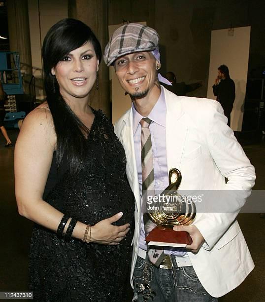 Olga Tanon and Chelo during Premio Lo Nuestro a la Musica Latina 2007 Backstage at American Airlines Arena in Miami Florida United States