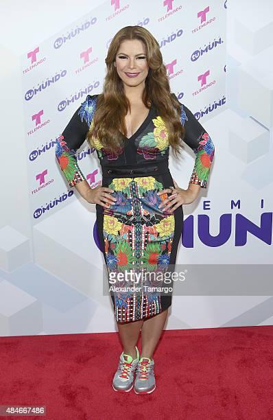 Olga Tanon attends Telemundo's 'Premios Tu Mundo Awards' 2015 at American Airlines Arena on August 20 2015 in Miami Florida