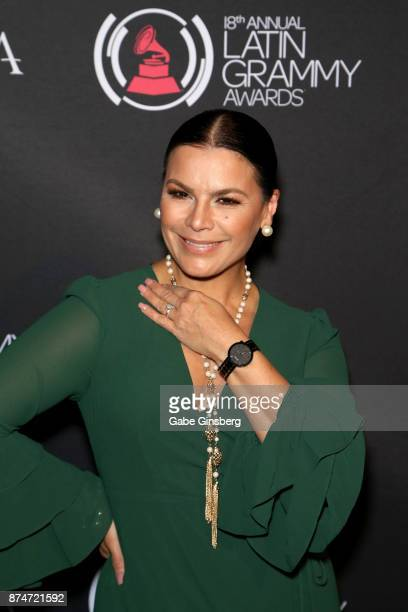 Olga Tanon attends the gift lounge during the 18th annual Latin Grammy Awards at MGM Grand Garden Arena on November 15 2017 in Las Vegas Nevada