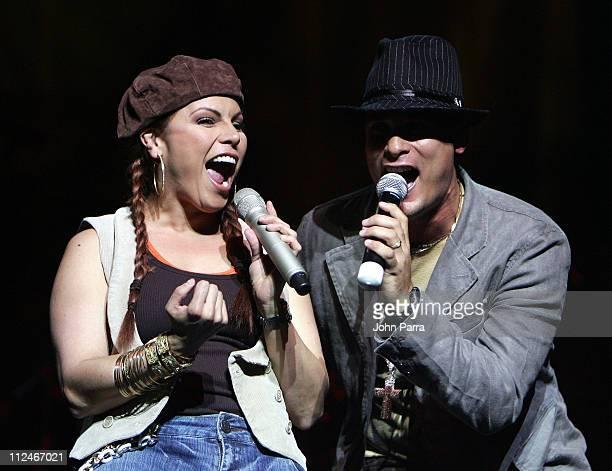 Olga Tanon during El Vacilon Anniversary Concert March 10 1006 at James L Knight Center in Miami Florida United States