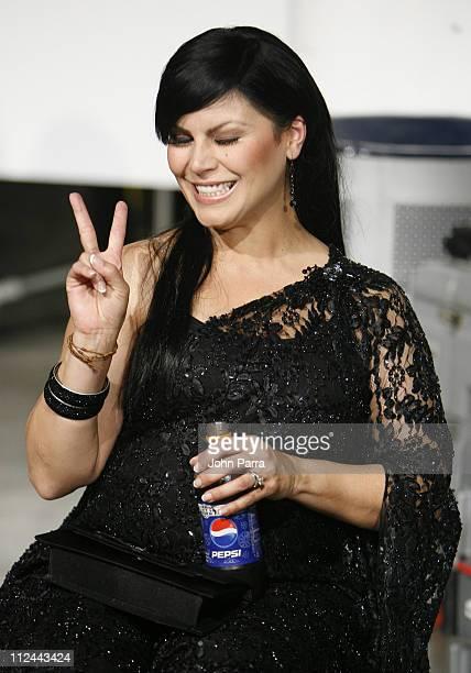 Olga Tanon during Premio Lo Nuestro a la Musica Latina 2007 Lo Que No Se Vio Backstage at American Airlines Arena in Miami Florida United States
