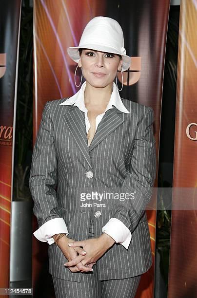 Olga Tanon during The 7th Annual Latin GRAMMY Awards Celebra Nuestra Musica Arrivals at Univision Studios in Miami Florida United States