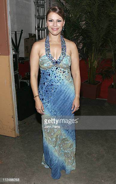 Olga Tanon during The 7th Annual Latin GRAMMY Awards Celebra Nuestra Musica Backstage at Univision Studios in Miami Florida United States