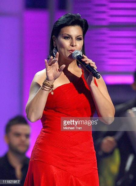 Olga Tanon performs onstage during the 9th Annual Latin Grammy Awards held at Toyota Center on November 13 2008 in Houston Texas