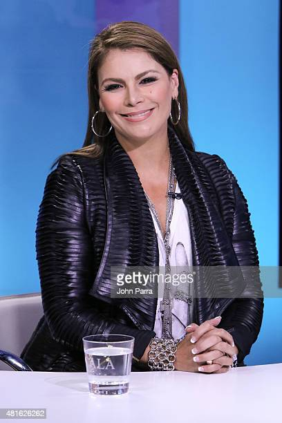 Olga Tanon visits CNN Espanol CALA on July 22 2015 in Miami Florida