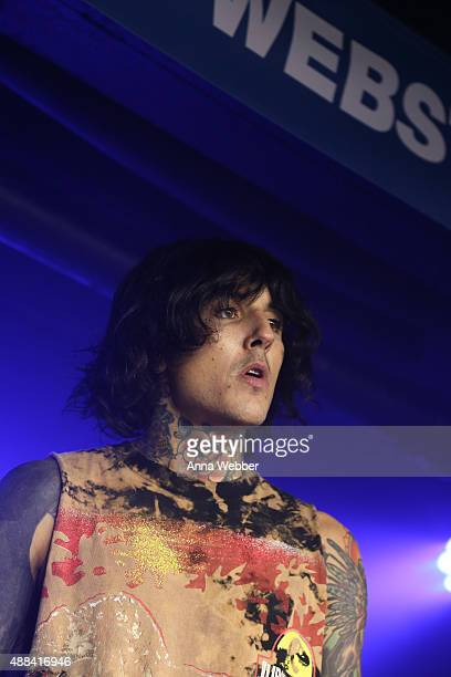 Oli Sykes of Bring me the Horizon performs during SiriusXM Hosts Private Bring Me The Horizon Concert at The Studio At Webster Hall on September 15...