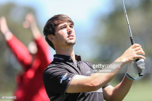 Olie Schniederjans during the 4th round of the Valero Texas Open at the TPC San Antonio Oaks Course in San Antonio TX on April 23 2017
