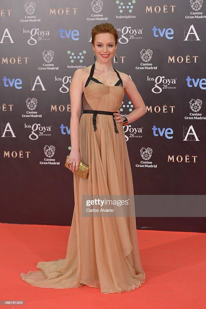 Olimpia Melinte attends Goya Cinema Awards 2014 at Centro de Congresos Principe Felipe on February 9, 2014 in Madrid, Spain.