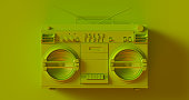 Olive Green Boombox 3d illustration