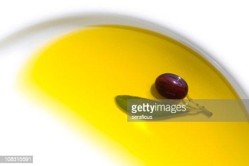 Olive in oil : Stock Photo