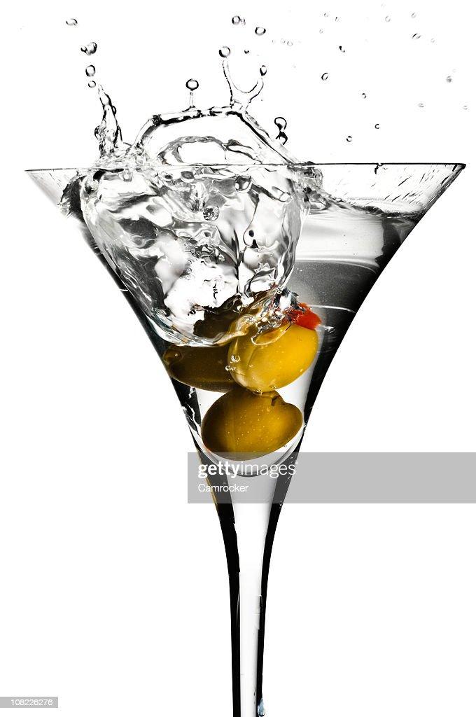 Olive Martini Splash! : Stock Photo