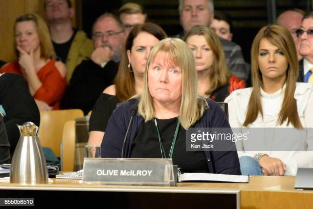 Olive McIlroy of Scottish Mesh Survivors group gives evidence of her experience of transvaginal mesh implants to the Scottish Parliament's Public...