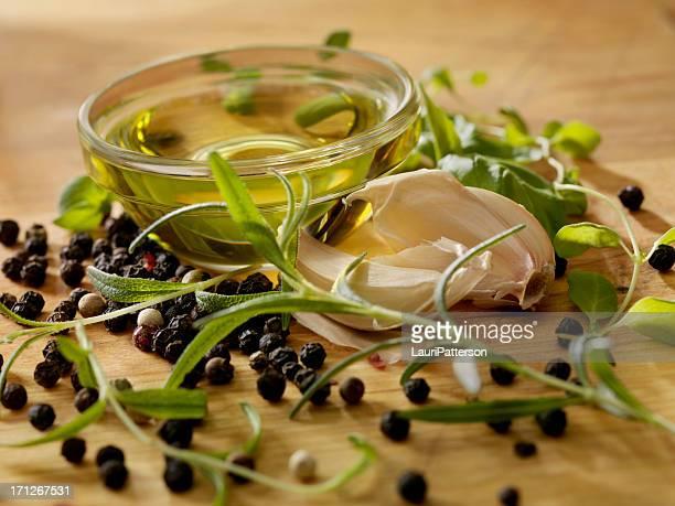 L'huile d'Olive, aux herbes fraîches