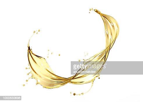 Olive or engine oil splash : Foto de stock