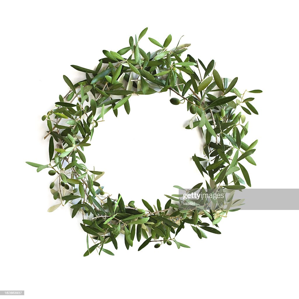 Olive tree branch wreath