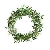 Olive tree branch wreath