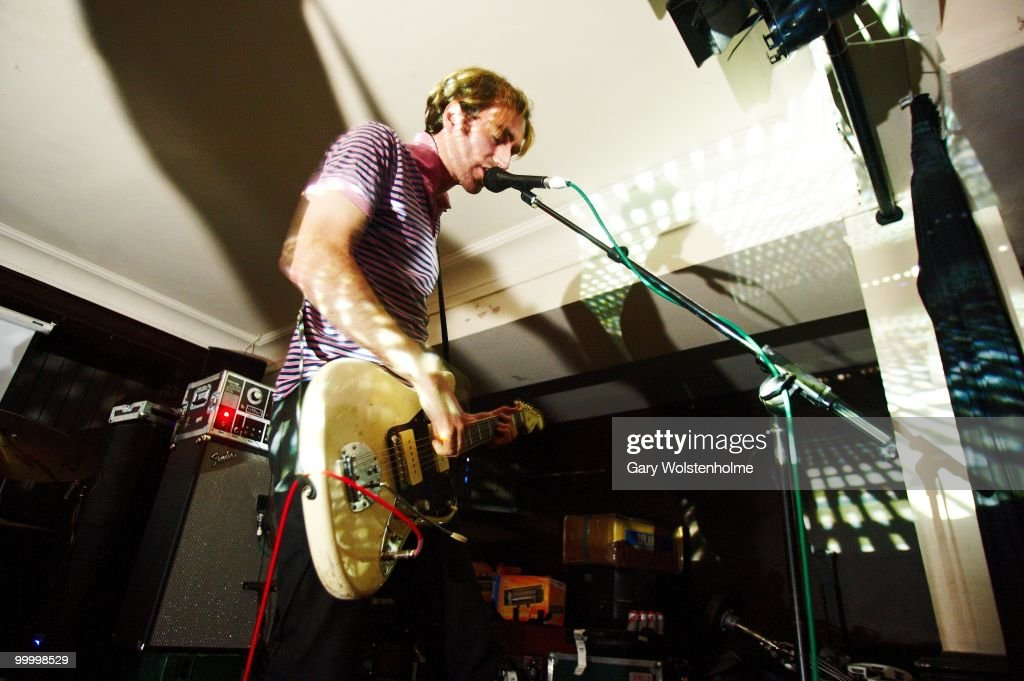 Oliver Ackermann of A Place To Bury Strangers performs on stage at The Harley on May 19, 2010 in Sheffield, England.