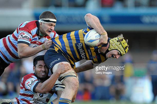 Oliver Atkins in action during the round 16 Shute Shield match between Sydney Uni and Southern Districts at North Sydney Oval on August 3 2013 in...